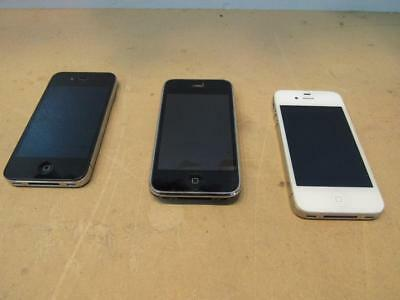 Lot of 3 iphones / ipod for parts / repair a1332 4, touch, a1241 16gb 3