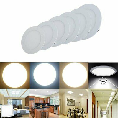LED Ceiling Panel Flat Down Light Ultra Slim Recessed Modular Suspended Round