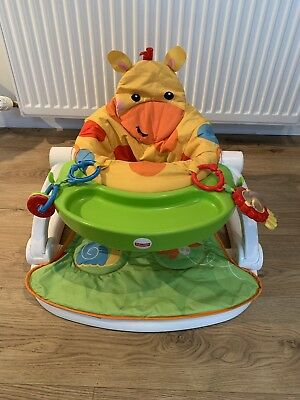 Fisher Price Giraffe Sit-Me-Up Soft Floor Seat with Tray