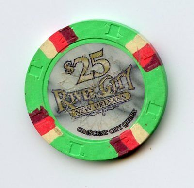 25.00 Chip from the River City Casino New Orleans Louisana Cresent City Canx