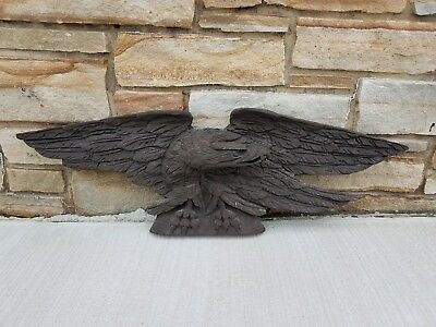 VTG American Folk Art Stern Board Federal Pine Eagle Artistic Carving Co. Boston