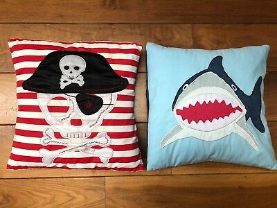 Great Little Trading Company - 2 children's cushions - Pirate & Shark