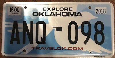 OKLAHOMA SCISSOR TAIL STATE BIRD License Plate