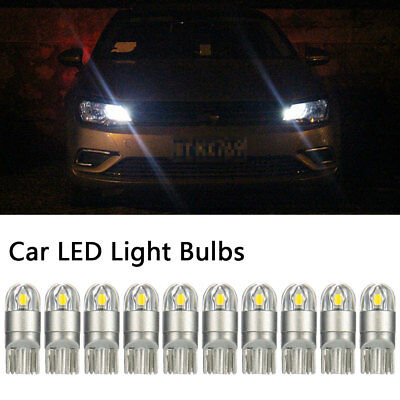 10Pcs T10 Bulbs W5W 501 Canbus Lights LED SMD 3030 Bright White Car Error Free