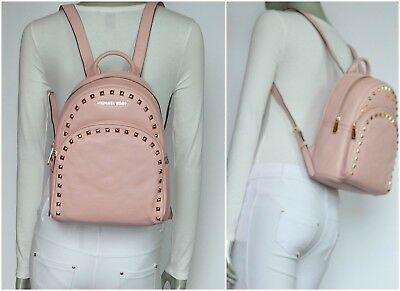 076f9356d343 Michael Kors Abbey Medium Frame Out Stud Leather Backpack Blossom NWT$398.00