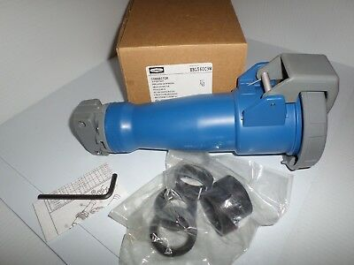 **NEW IN BOX** P/&S 560C9W 60-Amp PIN/&SLEEVE CONNECTOR HBL560C9W 120//208V 4P 5W