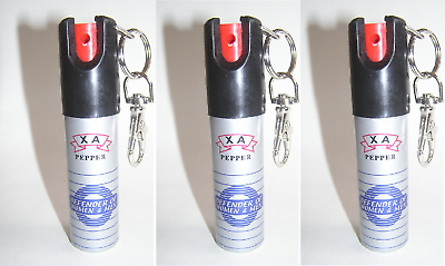 3 X DEFENDER Pepper Spray with Safety Lock Self Defense with key chain clutch!!!