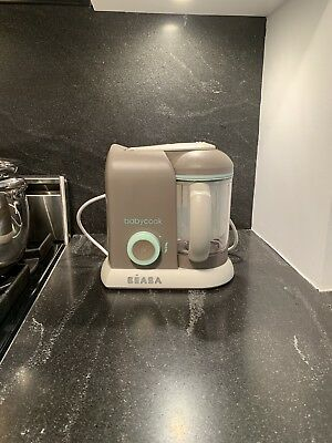 Beaba Babycook Pro Baby Food Maker and Steamer - Latte/Mint 4 In 1 !