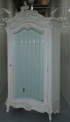 Rrp £1435 Chateau Mirrored Armoire Wardrobe With Handing Rail Mirrored Door