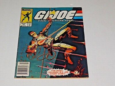 G.I. JOE #21 Key 1ST APP STORM SHADOM CLASSIC SILENT ISSUE