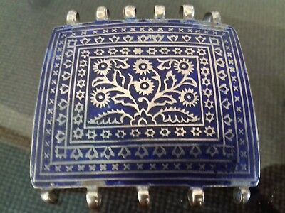 Silver & Enamel 19th Century Ottoman Empire Large Buckle.