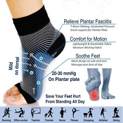 Circulation Elastic  Sock Foot Compression  Relieve Swell Ankle Anti Fatigue