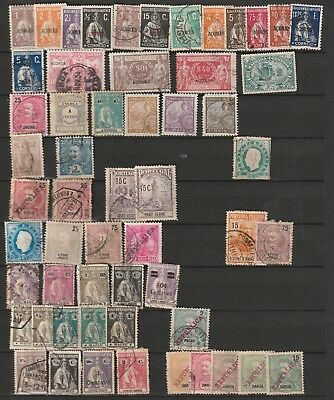 Portuguese colonial stamp lost used and MH 3 scans