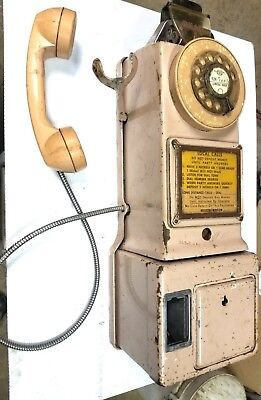 Vintage 1955 Western Electric Bell System Rotary Pay Phone 3 Coin Slot Automatic