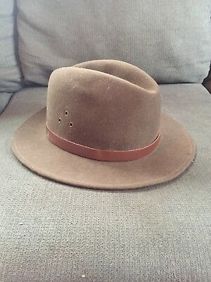 a1b2683a97c COUNTRY GENTLEMAN FEDORA Herringbone Tweed Hat Gray Wool Blend Men s ...