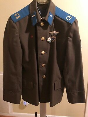 Russian Soviet Army Ceremonial Jacket Soldier Air Force Aviation USSR 1980s