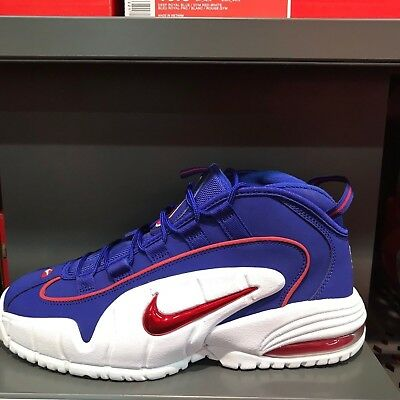 NIKE AIR MAX Penny Shoes 685153 400 Basketball Blue Red Size 7 11
