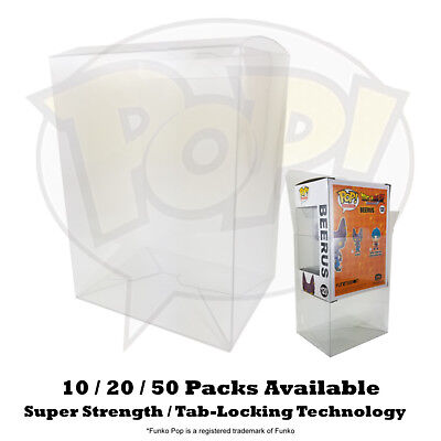 "Lot 10 / 20 / 50 Super Strength Funko Pop 4"" inch Box Protector Case Clear"