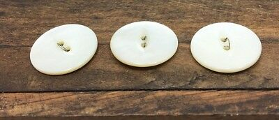 Vintage 3 Matching Genuine Mother Of Pearl Buttons