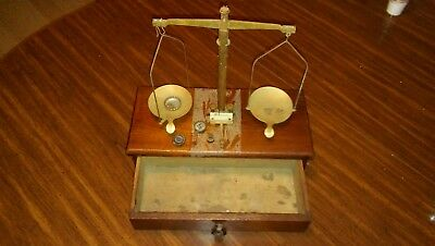 Antique Balance Gold Miners B-Scale in Box with some Weights GOLD,SILVER SCRAP