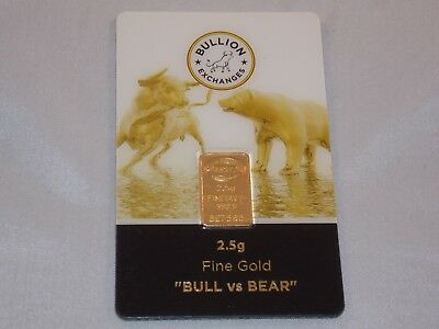 2,5 Gram Gold Bar Bullion Exchange