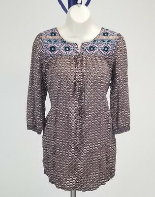 b54c17822fd098 Anthropologie Esley Womens SZ Small Peasant Embroidered Tunic top W/Pockets  Boho