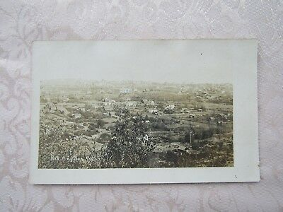 Rppc- Birdseye View Of Port Angeles,wash. 1915?