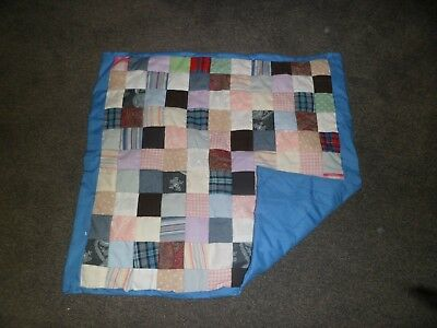 Handmade Patchwork Throw/Quilt for cot or pets! little squares