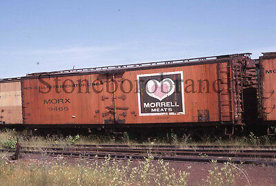 Original slide- MORRELL MEATS wood side refrigerator #9465 @ Ashland WI; 7/26/69