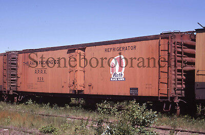 Original slide- RATH wood side refrigerator #629 @ Ashland WI; 7/4/1971
