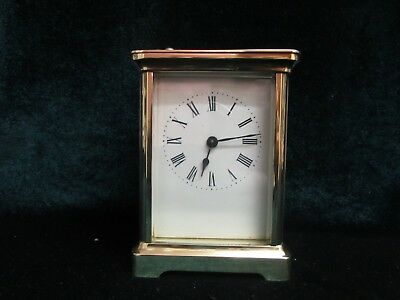 Antique Brass 8 Day   Brass Carriage Clock