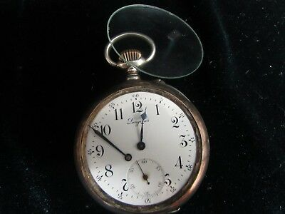 Longines Pocket  Watch Sterling Silver From 1889 Grand Prix