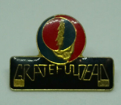 """Vintage Button Pin Badge Grateful Dead """"steal Your Face"""""""