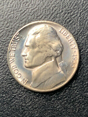 1953-S Jefferson Nickel Choice Uncirculated Fabulous Quality