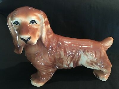 Vintage Springer Spaniel Dog Figurine Marked