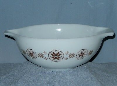 Vintage Pyrex Cinderella Town & Country 4 QT 444 Nesting Bowl 35 Brown Stars