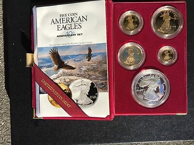 """1995W American Eagle Gold Proof Set """"10Th Anniversary Edition"""""""