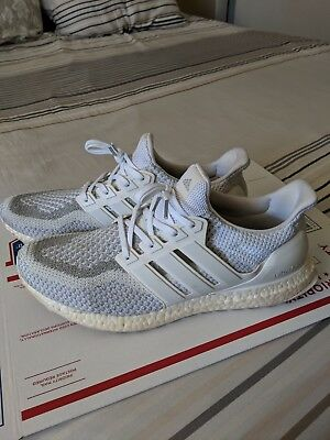 Adidas Ultraboost 2.0 LTD White 3M Reflective, sz 12 (in great used condition)