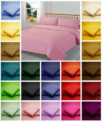 Percale Duvet Quilt Cover Bedding Set With Matching Pillowcase 180 Thread Count