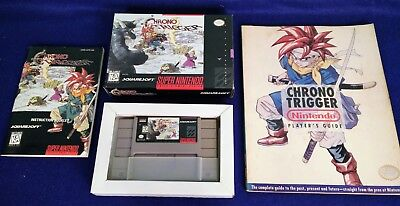 Genuine Chrono Trigger with Box, Manual, and Player's Guide (SNES, 1995, USA)