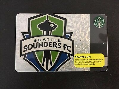 Starbucks Gift Card ~ 2013 Seattle Sounders Limited Edition  Mls