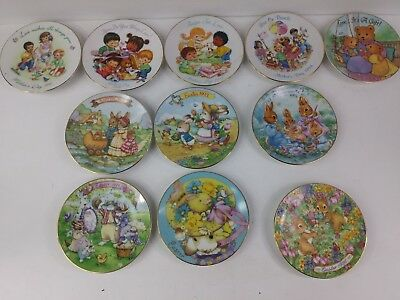22K Gold rim trim. Set of 5 Mothers Day Plates plus 6 Easter Plates. RARE!