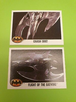 Batman  trading cards 1989 104,109 set of 2