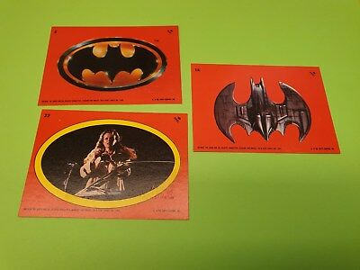 Batman stickers trading cards 1989 set of 3