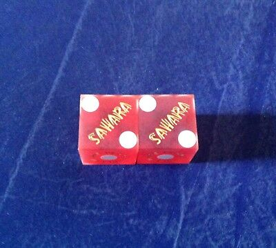 Vintage Pair Of Casino Dice The Sahara Las Vegas NV