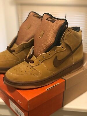 finest selection 3e631 7eded 2002 Nike SB Dunk High Maple Wheat DS