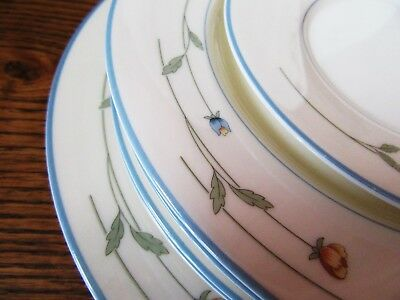 9 Piece Lot Gorham Country Flowers 3 Dinner Plates 5 Lunch Plates 1 Bread Plate