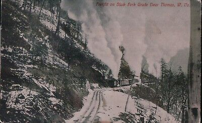 d) Freight on Black Fork Grade Near Thomas West VA posted Feb 26 1910