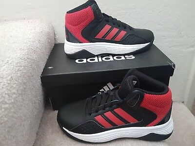 adidas Kids  Cloudfoam Ilation Mid Basketball Shoe Black Scarlet White Size  2 42c5c5acb
