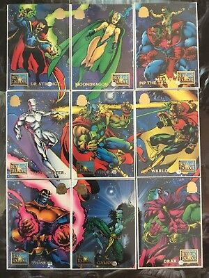 Marvel Universe Trading Cards BLOOD AND THUNDER Full Set Of 9